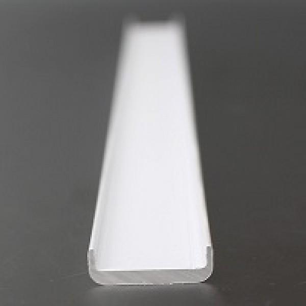 Inline Kantenschutz für 16,76 - 17,52 mm Glas RAL-9016 weiss