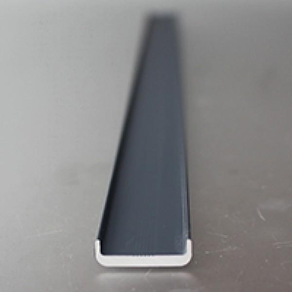 Inline Kantenschutz für 16,76 - 17,52 mm Glas RAL-7016 anthrazit
