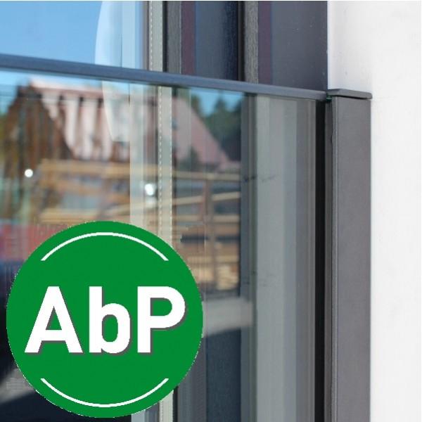 Profil-Set französischer Balkon für 16,76 mm Glas