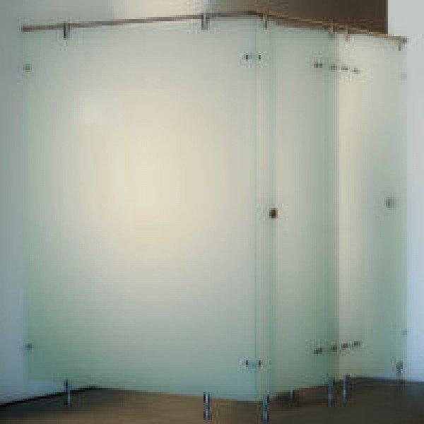 in diesem Beispiel ist satiniertes Glas verwendet