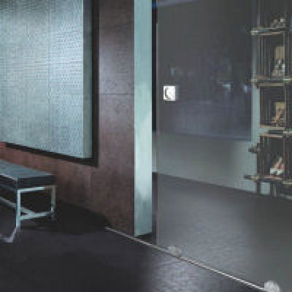Schiebetür Beschlag mit Bodenschiene aus Edelstahl