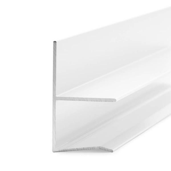 Regenrinne für Vordach 13,52, 17,52 und 21,52 mm Glasstärke