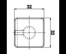 quadratischer moderner Griff in polierter Ausführung, Bild 2