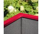 Pflanzkasten mit Wind- und Sichtschutz in individueller Farbbeschichtung - 1800 mm breite, Bild 5