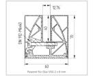 Klemmprofil eckig für Glasstärke 12,76 mm, Bild 10