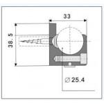 Wandhalterung Rohr-Wand 8300A-2, Bild 1