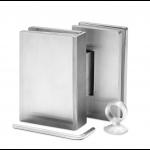 Scharnier Verbindung | Glas-Glas 90° | Serie F | Matt gebürstet | R/L Anschlag, Bild 1
