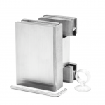 Scharnier Verbindung | Glas-Glas 90° | Serie F | Matt gebürstet | R/L Anschlag, Bild 2