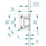 Edelstahl-Scharnier zur Wandbefestigung mit 1/2 Fuß, Bild 8