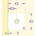 Winkelverbinder Glas-Wand 90° 8500L-11, Bild 3