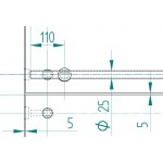 Wandhalterung Rohr-Wand 8300A-2, Bild 2