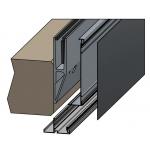 Brüstungsprofil zur vorgesetzten erhöhten Montage für Verblendungen, Bild 5