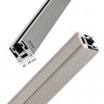 """Klemmprofil """"MINI-E"""" als Abschluss für Glastrennwände f. 8 + 10 mm Glasstärke, Edelstahloptik, Bild 2"""