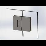 Glas-Glas Verbindung Scharnier für 180° Öffnungswinkel, Bild 1