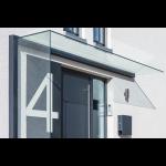 Profilsystem für Vordach und Seitenwindschutz mit Verbindung über 90° - Fixhöhe 2.400 mm, Bild 1