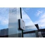 Eck-Pfosten System V Glasstärke 8 - 12,76 mm zum Einbetonieren, Bild 1