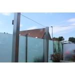 Eck-Pfosten System V Glasstärke 8 - 12,76 mm zum Einbetonieren, Bild 6