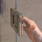 Glas-Glas Verbindung Scharnier für 180° Öffnungswinkel, Bild 8