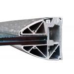Wandklemmprofil rechtwinklig ovale Abdeckung Aluminium bis 5.000 mm, Bild 1