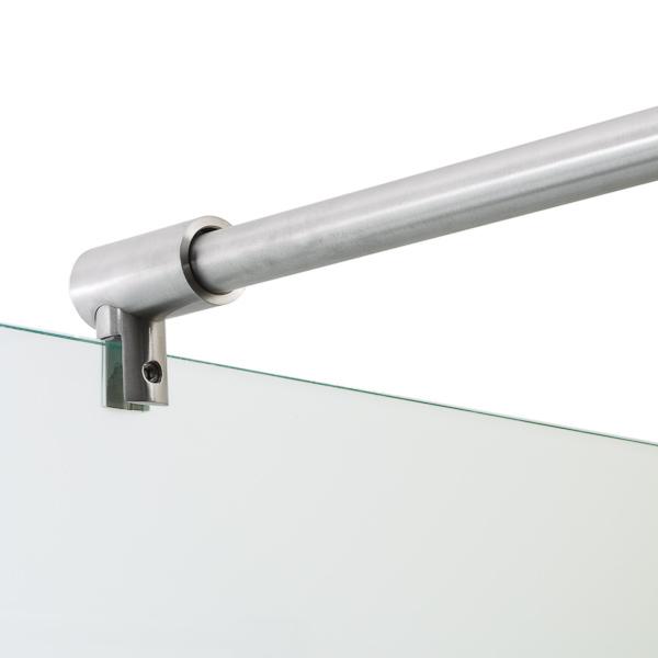 ... und Glashalter aus Edelstahl für die Dusche – ETG – ETG