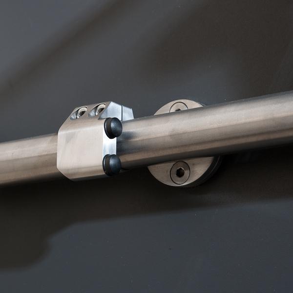 flacher Stopper aus Edelstahl für Schiebetür-System