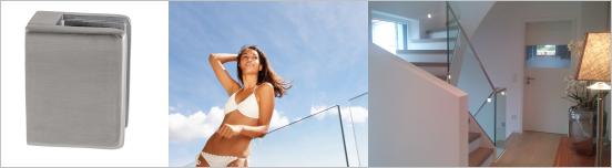 v2a Geländer für Glas Absturzsicherung