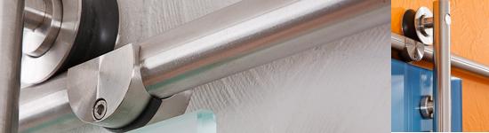 Beschlagsysteme aus Edelstahl für Glas-Schiebetüren