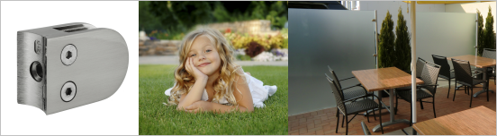 V2A Geländer für Glas-Windschutz und Sichtschutz im Garten