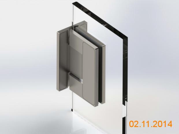 Scharnier 90 ° Glas-Wand-Verbindung