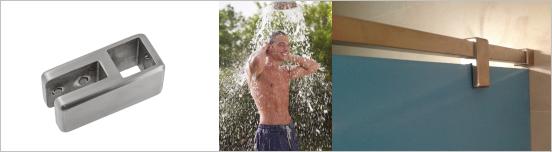 Edelstahl Beschlag für die Dusche, Umkleide, WC und Sanitärraum